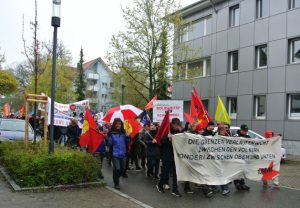 Demonstration in der Karlstraße