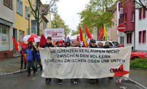 In der Karlstraße vor dem Linken Zentrum