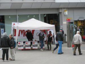 Infostand in Schwenningen